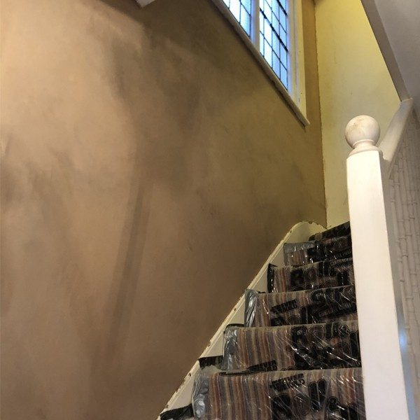 The job was complete with a plaster skim