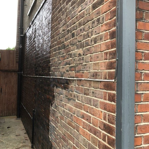 A breathable water repellent was applied to the external walls to seal cracks